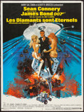 """Movie Posters:James Bond, Diamonds are Forever (United Artists, 1971). French Affiche (23.5""""X 31.5""""). James Bond.. ..."""