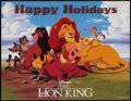 "Movie Posters:Animation, The Lion King (Buena Vista, 1994). Special Poster (17"" X 22""). Animation.. ..."