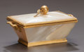 Decorative Arts, Continental:Other , A FRENCH MOTHER-OF-PEARL AND GILT BRONZE COVERED BOX. France, circa1880. 2-1/2 x 4-1/2 x 2-1/2 inches (6.4 x 11.4 x 6.4 cm)...