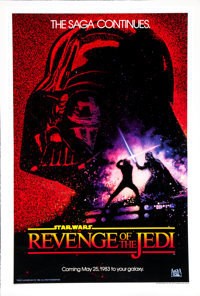 "Revenge of the Jedi (20th Century Fox, 1982). One Sheet (27"" X 41"") Advance. Science Fiction"