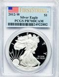 Modern Bullion Coins, 2012-W $1 One-Ounce Silver American Eagle, First Strike PR70 DeepCameo PCGS. PCGS Population (4754). NGC Census: (13321)....
