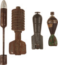 Military & Patriotic:WWI, Lot of Miscellaneous WWI Ordnance [Inert].... (Total: 4 Items)