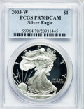 Modern Bullion Coins, 2003-W $1 One Ounce Silver Eagle PR70 Deep Cameo PCGS. PCGSPopulation (1531). NGC Census: (7698). Numismedia Wsl. Price f...