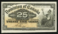Canadian Currency: , DC-15b 25¢ Jan. 2, 1900. ...