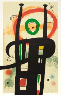 JOAN MIRÓ (Spanish, 1893-1983) Le Grand Ordonnateur, 1969 Color etching with aquatint and carborundu