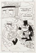 Original Comic Art:Splash Pages, Underdog #9 Page 27 Dudley Do-Right Pin-Up Original Art(Charlton, 1971)....