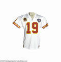 Football Collectibles:Uniforms, 1994 Joe Montana Game Worn Jersey. The legendary Hall of Fame quarterback took some of the final snaps of his career in thi...