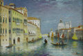 Fine Art - Painting, European:Contemporary   (1950 to present)  , LUCIANO RAMPASO (Italian b.1934). Venitian Canal. Oil on canvas. 15 x 22in.. Signed lower right. From the collection of ...