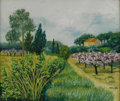 Fine Art - Painting, European:Contemporary   (1950 to present)  , FLORENCE ARVEN (French 1952 - ). Provencial Landscape. Oil on canvas. 19 x 22in.. Signed lower right. Florence Arve...