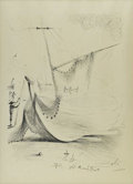 Prints:Contemporary, SALVADOR DALI (Spanish 1904 - 1989). Harbor Scene, 1965.Lithograph. 37 x 25.5 in.. Plate signature and date to lower ma...