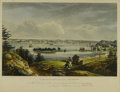 Prints:American, I. HILL. New York From Height Near Brooklyn. Handpaintedlithograph (Kennedy & Co.). 13 x 20in.. Lower right reads:En...