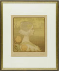 Prints:European Modern, PAUL BERTHON (1872-1909). Queen Wilhelmina, 1901. Lithograph. 15.5 x 14in. (image size). Plate signature upper left. Fro...