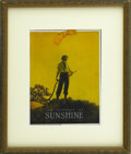 Prints:American, MAXFIELD PARRISH (American 1870 - 1966). Calendar of Sunshine, forDodge Publishing (P.F. Collier & Son). Harvest, 1916. Per...