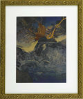 Prints:American, MAXFIELD PARRISH (American 1870 - 1966). Errant Pan, 1910. Periodprint on paper. 9 x 11in. (image size). Provenance: Privat...