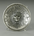 Other:American, An American Silver-Plate Bowl. James W. Tufts, Boston, MA,Twentieth Century. The repousse bowl depicting the face of ...
