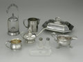 Other:American, A GROUPING OF SILVER ITEMS. The grouping of items including acovered dish, two creamers, a sugar, a salt and pepper shake...(Total: 5 Items)