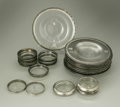 Other:American, A GROUPING OF GLASS AND SILVER ITEMS. Various makers. The groupingof entree plates and coasters of glass with silver lini... (Total:35 Items)