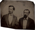 "Photography:Tintypes, William ""Bloody Bill"" Anderson and Jo Shelby: An Important LargeOriginal Tintype Photograph...."