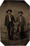 Photography:Tintypes, Cole and Jim Younger: A Published Sixth Plate TintypePhotograph....