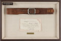 Arms Accessories, Jesse James Gun Belt, from the Collection of Harry Hoffman....