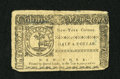 Colonial Notes:New York, New York March 5, 1776 $1/2 Very Fine. This is a very attractivenote for the grade which has a couple of solid signatures a...