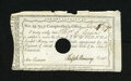 Colonial Notes:Mixed Colonies, Connecticut Payment Certificate Extremely Fine. This two poundcertificate issued in 1790 has been hole cancelled. A bit of ...