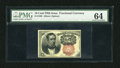 Fractional Currency:Fifth Issue, Fr. 1266 10c Fifth Issue PMG Choice Uncirculated 64. This is a wellmargined example of this short key Meredith note that ha...