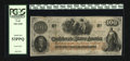 Confederate Notes:1862 Issues, T41 $100 1862. This nice example issued in Jackson on Oct. 14, 1862has a prominent cursive CSA watermark and a pair of inte...