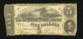Confederate Notes:1863 Issues, T60 $5 1863. The full CSA watermark is perfectly centered at thelower half of the note. The paper on this Very Good-Fine...