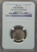 Liberty Nickels, 1899 5C -- Obverse Spot Removed -- NGC Details. UNC. NGC Census:(2/655). PCGS Population (6/838). Mintage: 26,029,032. Num...