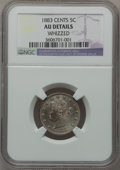 Liberty Nickels: , 1883 5C With Cents -- Whizzed -- NGC Details. AU. NGC Census:(4/865). PCGS Population (20/1154). Mintage: 16,032,983. Numi...