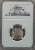 Liberty Nickels, 1895 5C -- Obverse Spot Removed -- NGC Details. UNC. NGC Census:(0/300). PCGS Population (2/340). Mintage: 9,979,884. Numi...