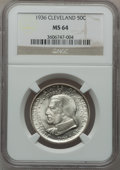 Commemorative Silver: , 1936 50C Cleveland MS64 NGC. NGC Census: (1640/2496). PCGSPopulation (2813/2828). Mintage: 50,030. Numismedia Wsl. Price f...