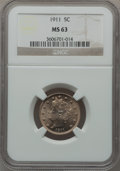 Liberty Nickels: , 1911 5C MS63 NGC. NGC Census: (320/633). PCGS Population (317/778).Mintage: 39,559,372. Numismedia Wsl. Price for problem ...