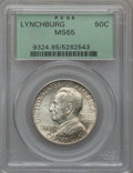 Commemorative Silver: , 1936 50C Lynchburg MS65 PCGS. PCGS Population (1285/683). NGCCensus: (994/543). Mintage: 20,013. Numismedia Wsl. Price for...