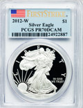 Modern Bullion Coins, 2012-W $1 One-Ounce Silver American Eagle, First Strike PR70 DeepCameo PCGS. PCGS Population (4754). NGC Census: (13373)....