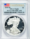 Modern Bullion Coins, 2010-W $1 Silver American Eagle, First Strike PR70 Deep Cameo PCGS.PCGS Population (15469). NGC Census: (21251)....
