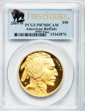Modern Bullion Coins, 2009-W G$50 Gold Buffalo First Strike PR70 Deep Cameo PCGS. .9999Fine. PCGS Population (3191). NGC Census: (0)....