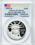 Modern Bullion Coins, 2009-W $100 One Ounce Statue of Liberty First Strike PR70 DeepCameo PCGS. PCGS Population (471). NGC Census: (0)....