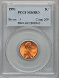 Lincoln Cents: , 1992 1C MS68 Red PCGS. PCGS Population (143/9). NGC Census: (0/0).Numismedia Wsl. Price for problem free NGC/PCGS coin in...