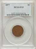 Indian Cents: , 1877 1C Fine 15 PCGS. PCGS Population (195/1436). NGC Census:(93/934). Mintage: 852,500. Numismedia Wsl. Price for problem...