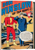 Golden Age (1938-1955):War, Don Winslow of the Navy #1-10 Bound Volume (Fawcett Publications, 1943)....