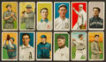 Baseball Cards:Lots, 1909-11 T206 White Borders Group (12) With HoFer & ScarcerBrand. ...