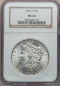 "Morgan Dollars, (2)1885-O $1 MS64 NGC. The current Coin Dealer Newsletter(Greysheet) wholesale ""bi... (Total: 2 coins)"