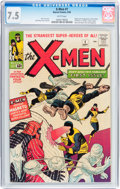 Silver Age (1956-1969):Superhero, X-Men #1 (Marvel, 1963) CGC VF- 7.5 White pages....