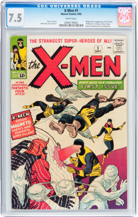 X-Men #1 (Marvel, 1963) CGC VF- 7.5 White pages