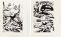 Original Comic Art:Splash Pages, Jove Original Art Pin-Up Group (undated).... (Total: 2Original Art)