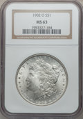 "Morgan Dollars, (2)1902-O $1 MS63 NGC. The current Coin Dealer Newsletter(Greysheet) wholesale ""bid"" price... (Total: 2 coins)"