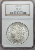 "Morgan Dollars, (2)1879-S $1 MS63 NGC. The current Coin Dealer Newsletter(Greysheet) wholesale ""bid"" price... (Total: 2 coins)"