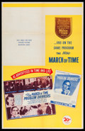 "Movie Posters:Documentary, The March of Time (20th Century Fox, 1946). One Sheet (27"" X 41"") Volume XII, No. 11 -- ""Problem Drinkers."" Documentary.. ..."